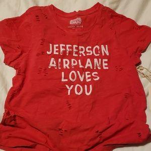 Distressed Lucky Jefferson Airplane tee